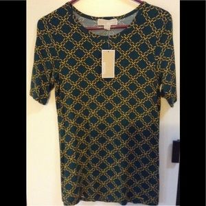 NWT Michael Kors Green Chain Shirt